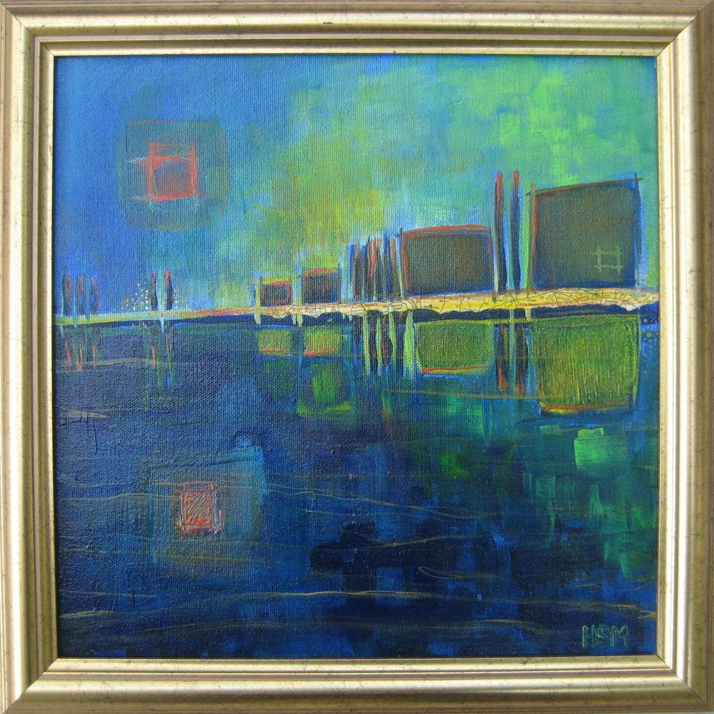 abstract landscape painting Heidi Muller