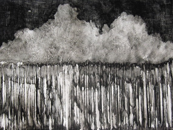 black and white monoprint arizona art