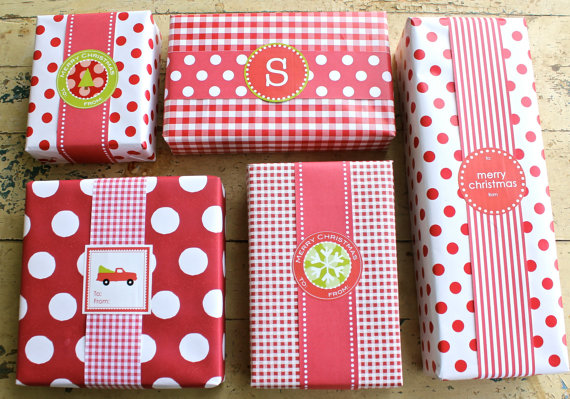 Christmas gift wrap labels