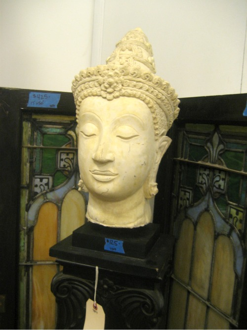 vintage buddha sculpture