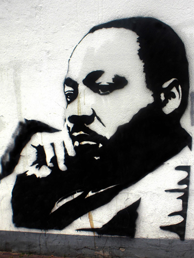 Martin Luther King Jr. street art