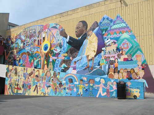 Martin Luther King Junior street art