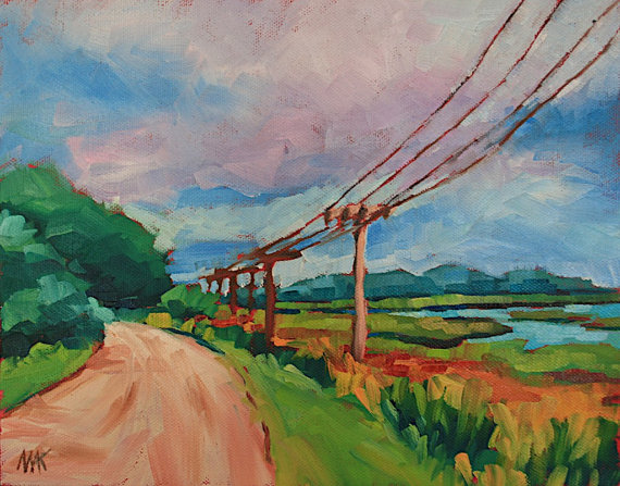 Maine landscape painting